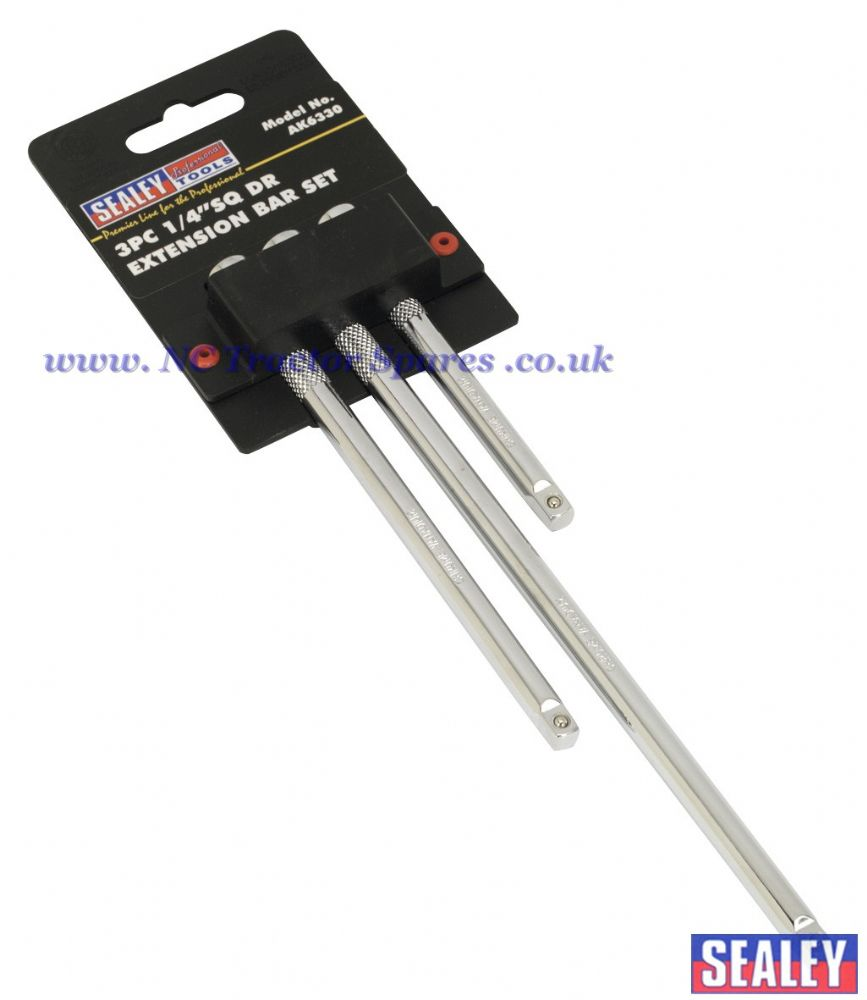 "Extension Bar Set 3pc 1/4""Sq Drive"